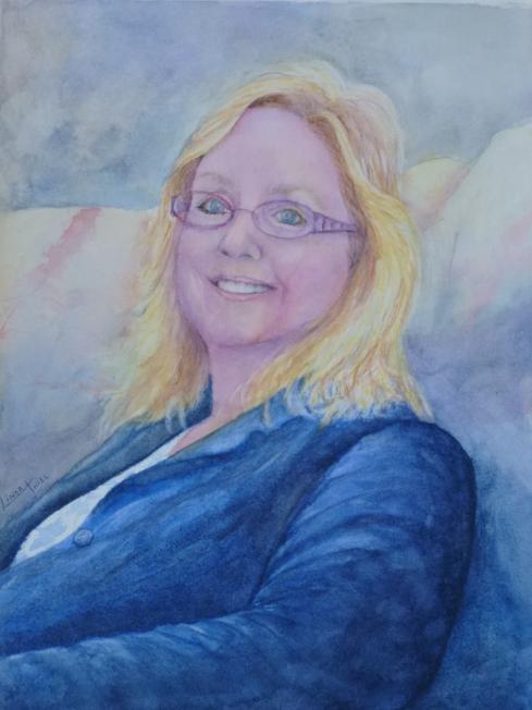 Watercolor of Nikki